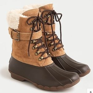 NEW Sperry Shearwater Boots All-weather 8 Tan